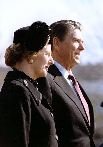 Margaret Thatcher and Ronald Reagan