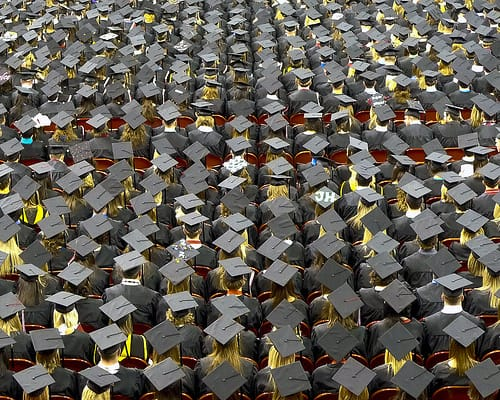 caps and gowns as far as the eye can see photo