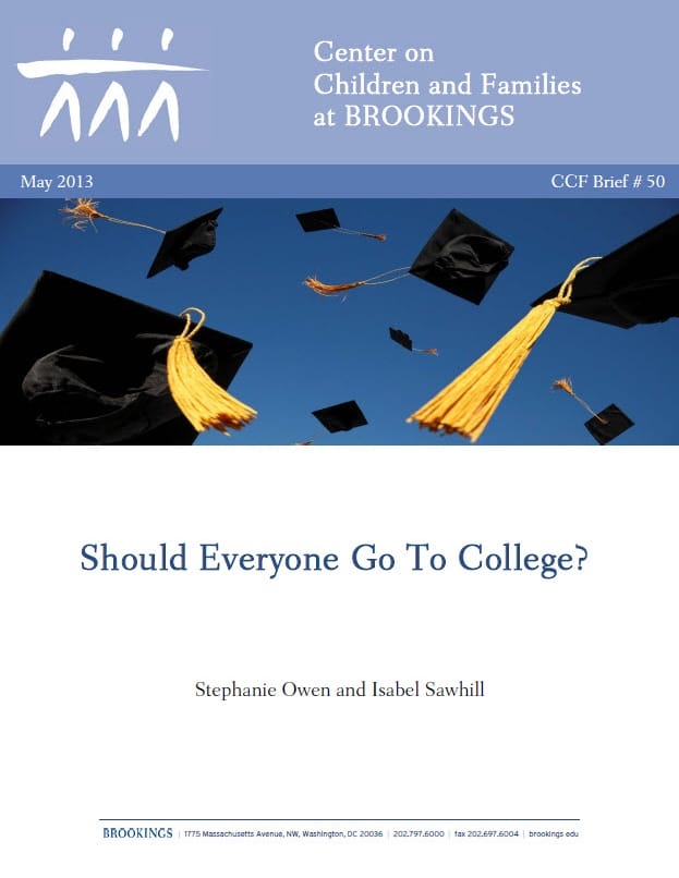 Should Everyone Go To College?
