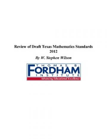 Texas math standards review